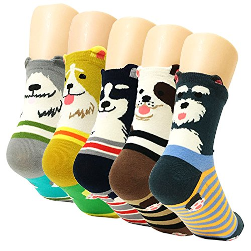 5pairs Womens Cartoon Colorful Multicolor