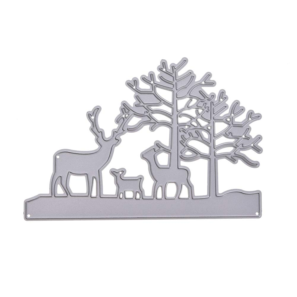 LanLan Nouveau 2018 Elk Metal Cutting Dies Pochoir DIY Scrapbooking Gaufrage Album Paper Card Craft