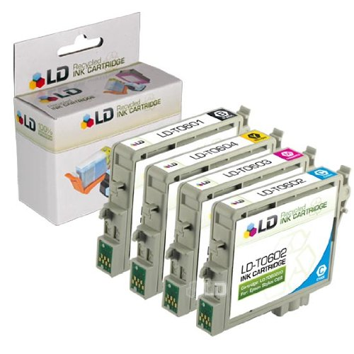 LD Remanufactured Ink Cartridge Replacements for Epson 60 T060 (Black, Cyan, Magenta, Yellow, ()
