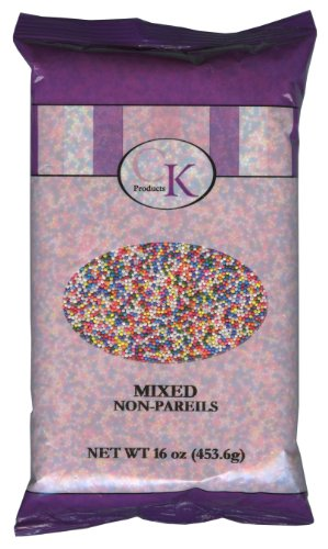 CK Products 16 Ounce Bag of Non Pareils, Mixed Rainbow