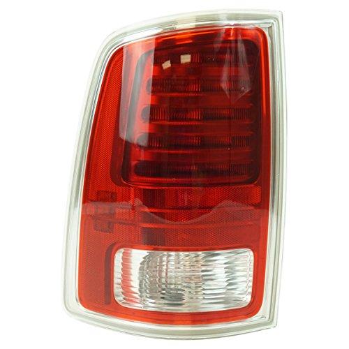 Pickup Tail Light Chrome Trim (Tail Light Lamp Rear LED w/ Chrome Trim LH Driver Side for Ram Truck Pickup)