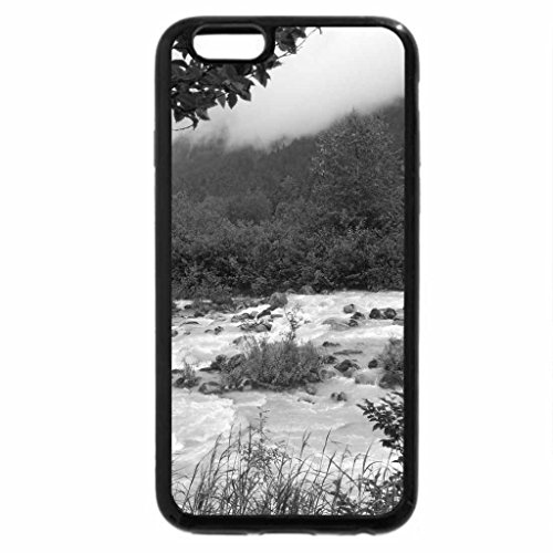 iPhone 6S Plus Case, iPhone 6 Plus Case (Black & White) - Misty on the Skagway River