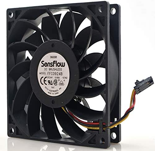 for Delta FFC0924B 9025 24V 0.60A 9CM 3-Wire Large air Volume Inverter Fan
