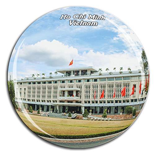 Reunification Palace Ho Chi Minh Vietnam Fridge Magnet 3D Crystal Glass Tourist City Travel Souvenir Collection Gift Strong Refrigerator Sticker