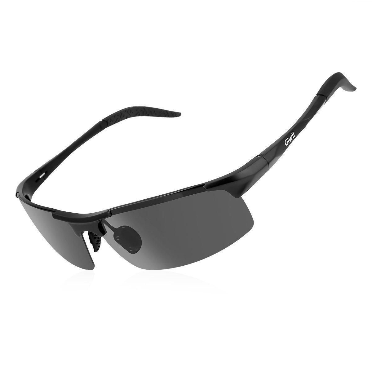 Giwil Gafas de Sol Polarizadas Deportivas de Aluminio y Magnesio para Ciclismo