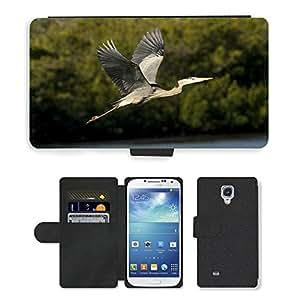 CARD POCKET BOOK CASE PU LEATHER CASE // M00103965 Vuelo Bella Vista Azul Garzas // Samsung Galaxy S4 S IV SIV i9500