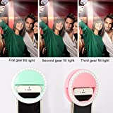 Selfie Lights [Upgraded Version], Leadpo Selfie Light Ring 3-Level Brightness 36 LED for iPhone Samsung Galaxy Sony, Motorola and Other Smart Phones; Clips on Night Ring Fill Light (Pink-2)