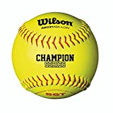 Wilson A9031 ASA Low Optic Yellow Fastpitch Softball - SST 12 Pack