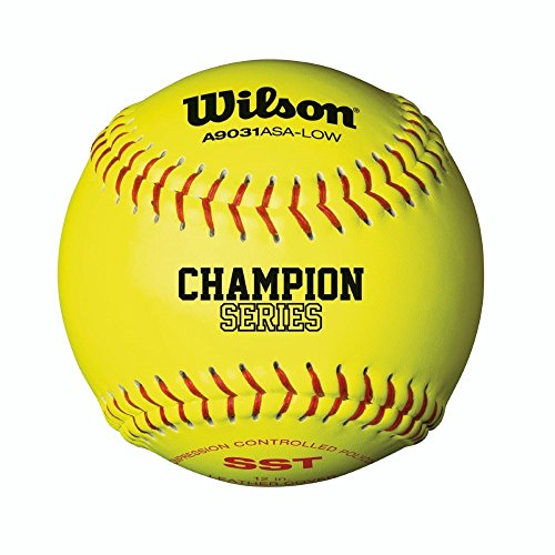 Wilson A9031 ASA Low Optic Yellow Fastpitch Softball - SST 12 Pack by Wilson
