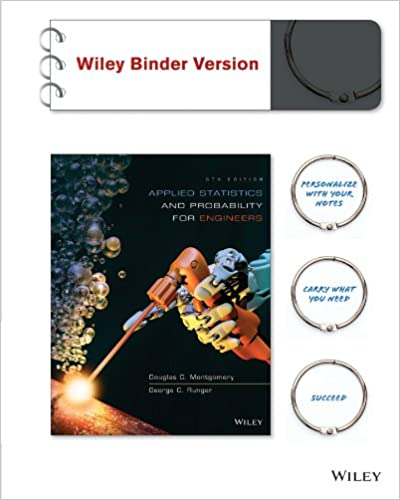 Applied Statistics And Probability For Engineers 6e Binder