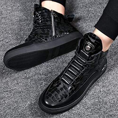 Stivali Boots Stivaletti Adulti Classici Sportivi Doc Pelle Moda Livello Autunno Uomo Classici Black Marten di 39 in Stivali per Alto Y5OOXqw