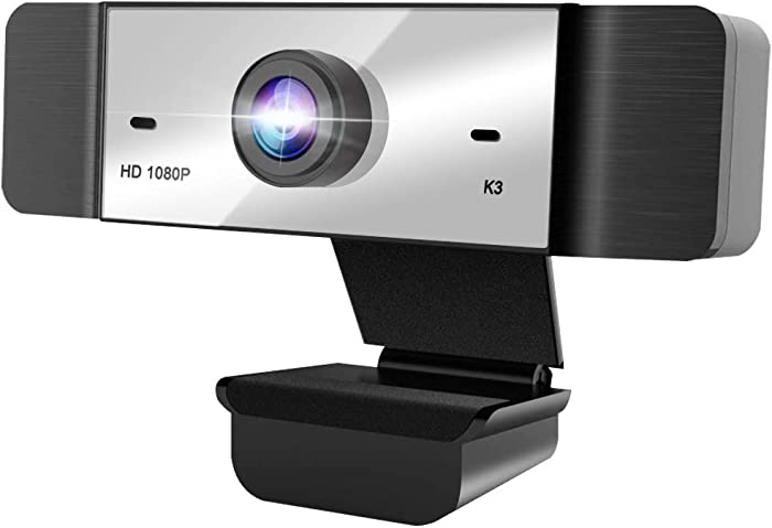 1080p Webcam with Microphone FHD Web Camera for Computers USB Video Streaming for PC Laptop Desktop Mac, No Delay Video Calling for Conference, Gaming, Online Classes