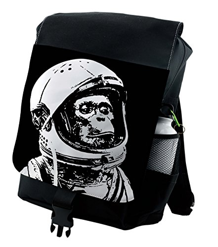 Lunarable Outer Space Backpack, Chimpanzee in Costume, Durable All-Purpose (Outer Space Costumes Ideas)