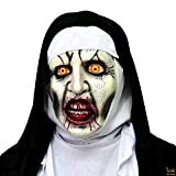 The Nun Mask, Deluxe Latex Scary Full Head Halloween Cosplay Costume