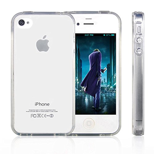 MXX iPhone 4S Case, Clear Case Bumper Shock-absorption Bumper and Anti-scratch Clear Back for Apple iPhone 4 /4S, International and Unlocked - 1 Pack. Retail Packaging - Clear (Iphone 4 Bumper Clear)