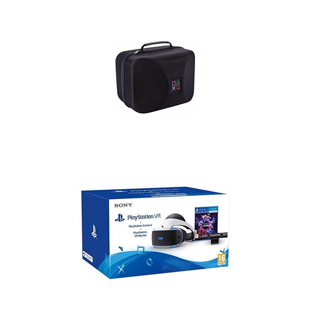 Sony - PlayStation VR + Cámara + VR Worlds + Bigben Interactive - PS4OFVRCASE Bolsa para PlayStation VR con licencia oficial (PS4): Amazon.es: Videojuegos