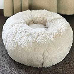 EOFK M Fleece Dog Bed Round Pet Lounger Cushion for Small Medium Large Dogs Cat Winter Dog Puppy Mat Pet Bed Must Haves for Child Gift Wrap Girl S Favourite Superhero Cake Topper UNbox Dolls
