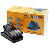 PEST Control Rat Traps (Set of 6) (Made in USA) (100% Kill, Safe, Reusable, Clean, Sanitary) with Bait Cup, Effective Anti-Rodent Infestation Solution (Heavy Duty)