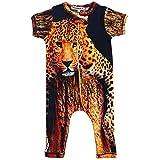 Inchworm Alley Leopard - Unisex Baby Romper Jumpsuit Onesie, 100% Organic Cotton