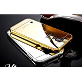 Samsung S5 Case,Ultra-thin Luxury Aluminum Metal Mirror PC Back Case Cover for Samsung Galaxy S5 I9600 (Gold)
