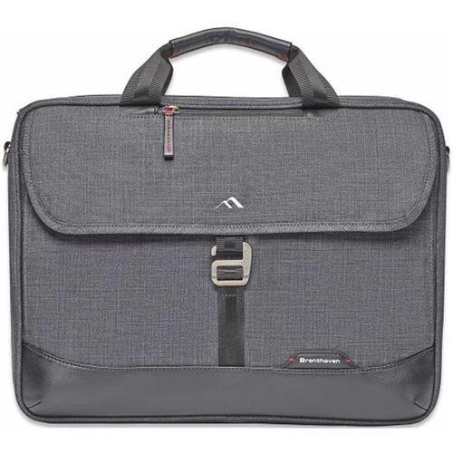 Brenthaven Collins Slim Briefcase, Graphite by Brenthaven