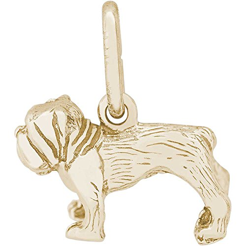 Rembrandt Charms Bull Dog Charm, 14K Yellow Gold
