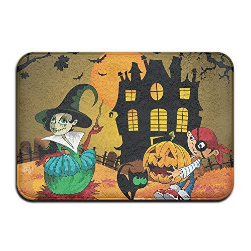 Wyuhmat1 Halloween Kids 15.7 X 23.6 Inch (40x60cm) Print Rubber Backed Mat Non Slip Doormat Play/Bedroom/Sleeping/Baby Crawling Mat ()
