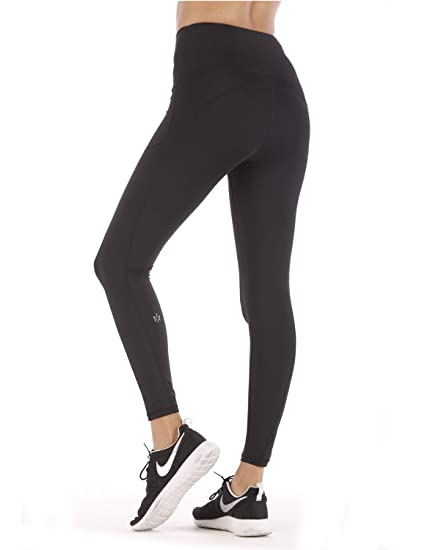 18135c3a532 Women High Waist Yoga Pants with Phone Pocket Tummy Control Workout Running  Tight 4 Way Stretch