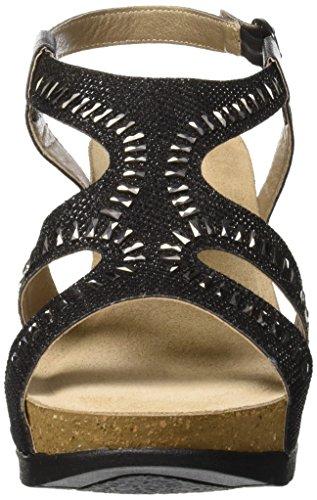 Noir Femme 014 Cheville Bride Tacco Nero In Sandales Blu nWS8qYfST4