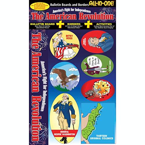 Gallopade GAL0635063778 American Revolution All-in-One Bulletin Board Set, 0.05