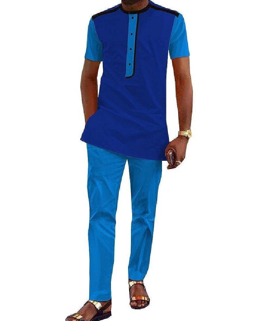 3X-grand Aooword-Hommes clothes Dashiki Afrique Batik Pantalon chemise SurvêteHommest couleur des sorts Homme