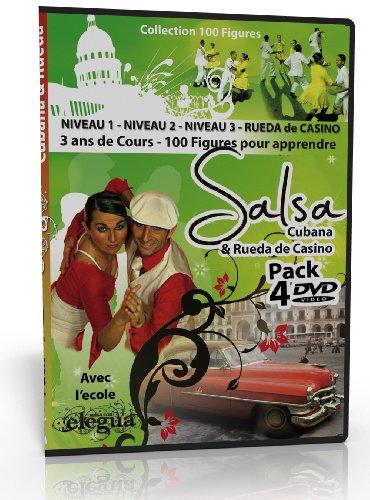Elegua : Salsa Cubana and Rueda de Casino 100 turn patterns 3 years lessons 4DVD Pack