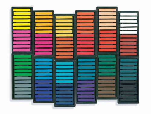 Sargent Art 22-1144 144-Count Colored Square Pastels Square Chalk Pastels
