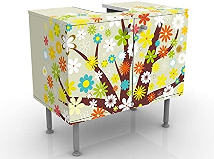Apalis Mobile per lavabo Design Dream Tree 60x55x35cm mobiletto Basso mobiletto da lavabo lavandino Mobile da Bagno Bagno mobiletto da lavandino lavabo Regolabile Bagnetto Larghezza: 60cm