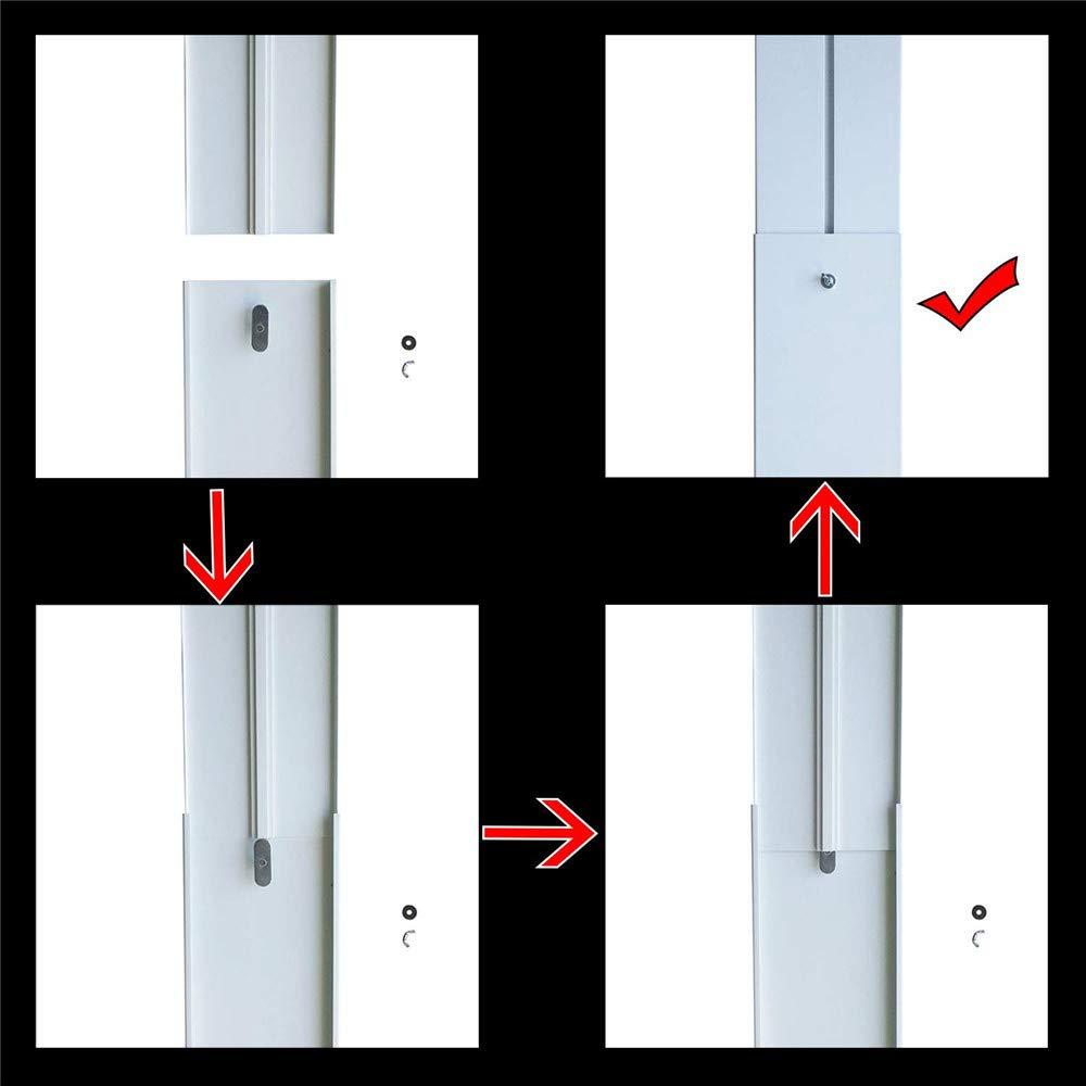 Tuyau de 13cm LINGKY Joint De Fen/être,Kit De Joint en PVC pour Fen/être Coulissante De Climatisation Mobile Ajustable,Climatiseur Portable pour Tuyaux avec Diam/ètre De Climatisation AC De 15 Cm