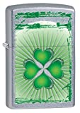 Zippo Shamrock Lighter, Street Chrome