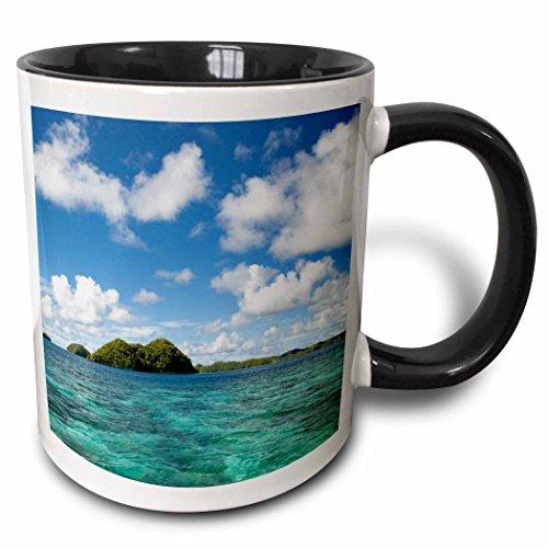 3dRose 189087_4 Rock Islands Of Palau Micronesia Unesco World Heritage Site Two Tone Mug, 11 oz, Black