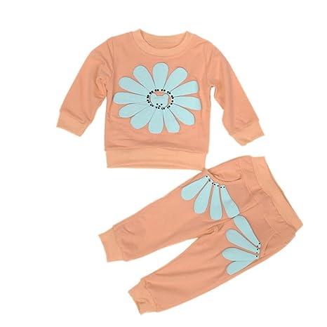 hunpta 1set primavera otoño niños bebé niñas girasol camisa + ...
