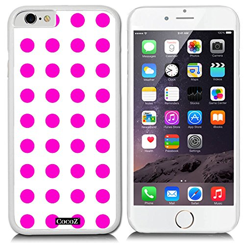 CocoZ® New Apple Iphone 6 s 4.7-inch Case Simple Lovely Polka Dot (White PC & Polka Dot 4)