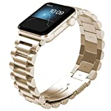 NO1seller Top Compatible Apple Watch Band 38mm 42mm, Solid Stainless Steel Strap Bracelet Unique Polishing Business Replacement for Apple Watch Series 4, Series 3, Series 2, Series 1