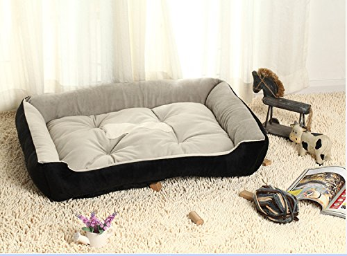 DeemoShop Plus Size Large Dog Bed Soft Comfortable Dogs House All Seasons Mat Moisture Proof Bottom Kennel Warm Pet Bed