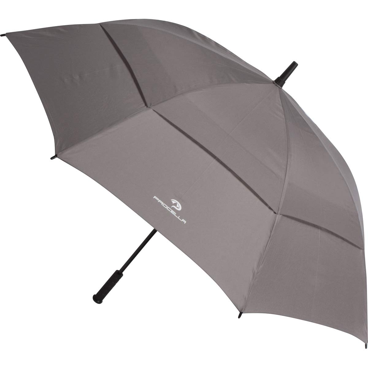 Procellaゴルフ傘62インチLarge Oversize防風防水自動開きRain & Wind Resistant Vented Doubleキャノピー頑丈なポータブルBest golf-sized Stick Umbrellas for Men and Women  グレー B01NBK1IE3