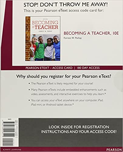 Becoming a teacher enhanced pearson etext access card 10th becoming a teacher enhanced pearson etext access card 10th edition 10th edition fandeluxe Images