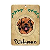 Welcome LEONBERGER DOG LABEL DECAL STICKER Sticks to Any Surface - 8 In x 12 In