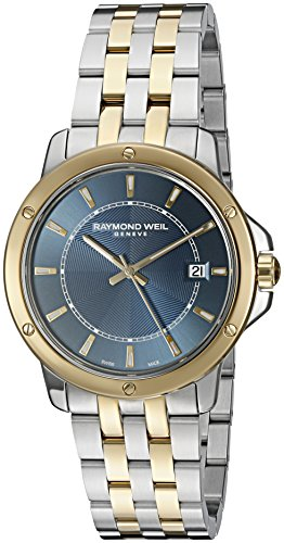 Raymond Weil Men's 'Tango' Swiss Quartz Stainless Steel Casual Watch, Color:Two Tone (Model: 5591-STP-50001)