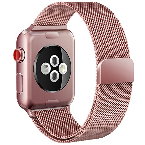 Apple Watch Band 38mm Rose Gold Milanese Loop for iWatch Bands Women
