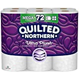 Quilted Northern Ultra Plush® Toilet Paper, 18 Mega Rolls, 18 = 72 Regular Rolls, 3 Ply White Bath Tissue
