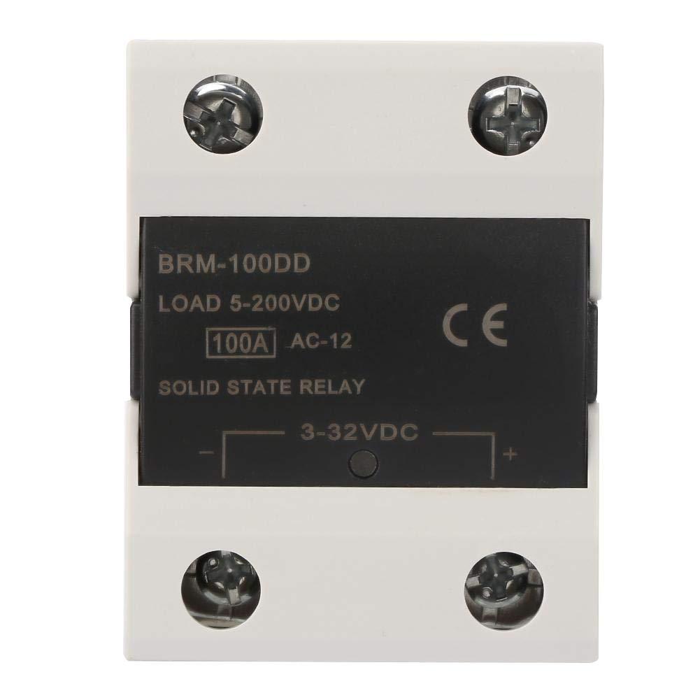 Keenso Solid State Relay 100A SSR 3-32V DC Solid State Relay BRM-60DD//80DD//100DD Control Communication SSR