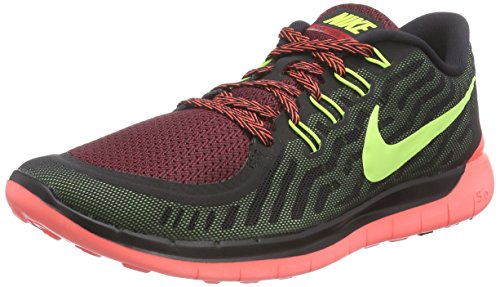 Nike Men's Free 5.0, BLACK/VOLT-GYM RED-UNIVERSITY RED, 10 M US