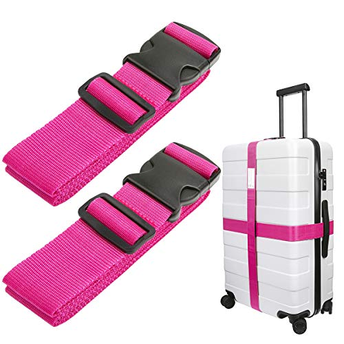Luxebell Luggage Straps Suitcase Belt Travel Accessories, 1.96 in W x 6.56 ft L, 2-Pack (6.56ft, ()